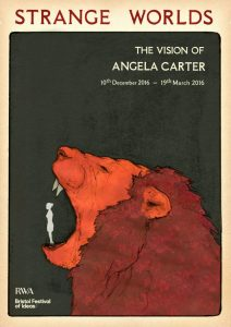 UWE BA (Hons) Illustration poster competition for Strange Worlds Exhibition - by Willem Hampson